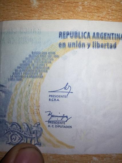 Billete 2 Pesos Serie K Error Grafilia Corrida