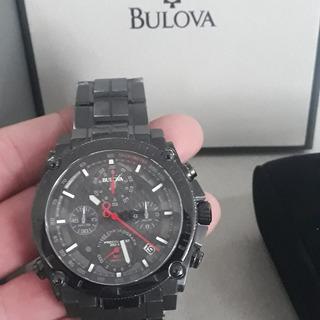 Reloj Bulova Precisionist 98g257 Sumergible 300m Negro