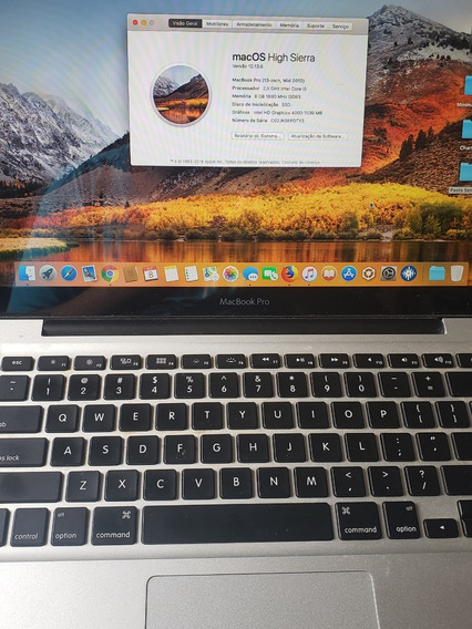 Macbook Pro 13 - Mid 2012 - Ssd 256 - Hd 500gb - Ram 8gb