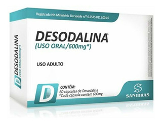 Emagrecedor Potente Desodalina 60 Capsulas - Sanibras