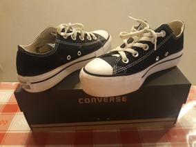 38ec1456a Converse All Star Negras Bajitas Con Plataforma - Ropa y Accesorios ...