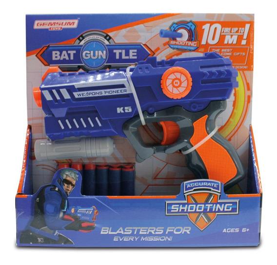 Pistola Batguntle Lanza 6 Dardos Dispara 10 Mt De Distancia