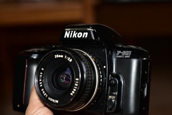 Câmera Analógica Nikon F601 + Lente Séries¿ E 28mm F/2.8
