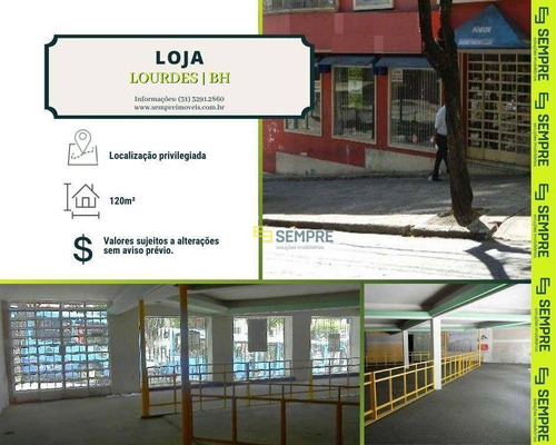 Imagem 1 de 12 de Loja Para Alugar, 120 M² - Lourdes - Belo Horizonte/mg - Lo0025