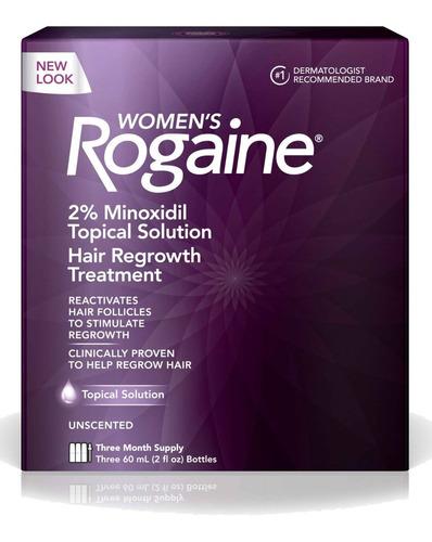 Imagen 1 de 3 de Women´s Rogaine 2% Tópico Three Month Supply