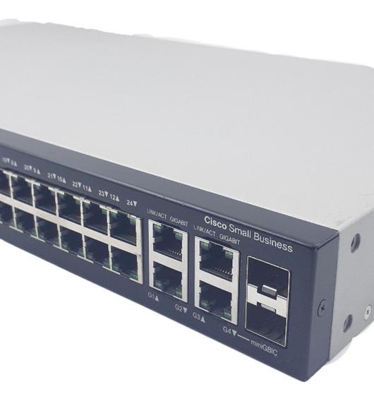 Switch Cisco Sf 300-24 Portas Srw224g4-k9 Semi-novo