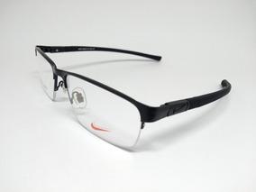 Armação Óculos Grau Nike 8007af Preto.