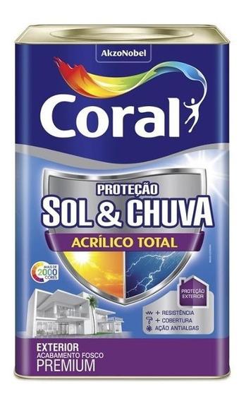 Tinta Acrílica Premium Fosca Proteção Sol & Chuva Colar De P