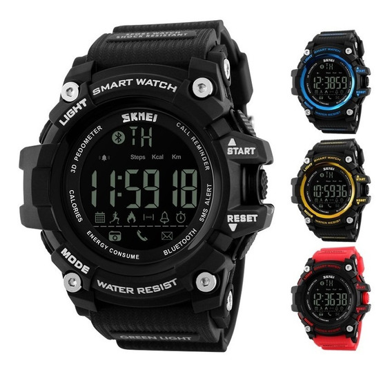 Reloj Militar Bluetooth Smartwatch Sumergible Skmei 1227
