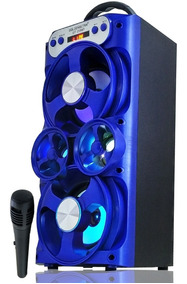 Caixa Som Bluetooth Amplificada Mp3 Pen Drive Fm + Microfone