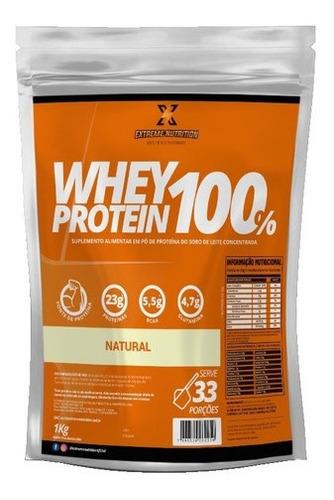 Imagem 1 de 6 de Whey Protein 100% Concentrado Extreme Nutrition 1kg Com Nfe