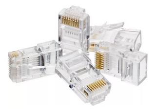 Ficha Rj45 Cat5 Redes Cable Utp 8 Contactos X100 Unidades