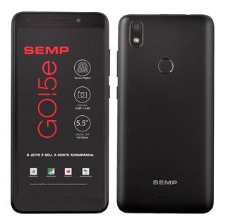 Celular Smartphone Semp Go! 5e Preto Tela 5,5 4g Wi-fi 13mp