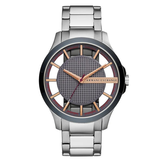 Relógio Armani Exchange Masculino Hampton Prata