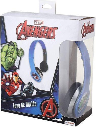 Fone De Ouvido Dobravel Vingadores Marvel Na Caixa Avengers