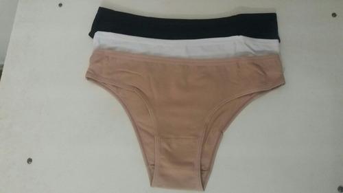 Bikinis Del Río 95 % Algodón.  Pack Con Tres Unidades.