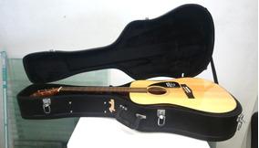 Hardcase E Violao Acústico Fender Dourado
