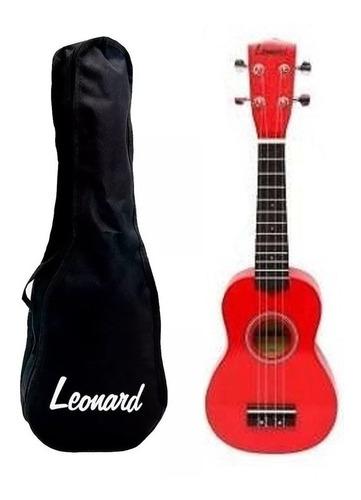 Imagen 1 de 1 de Ukelele Soprano Leonard Colores Uk5 Con Funda Envío Escolar