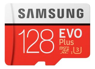 Samsung Evo Plus 4k 128gb U3 100/90mbs Memoria Micro Sd