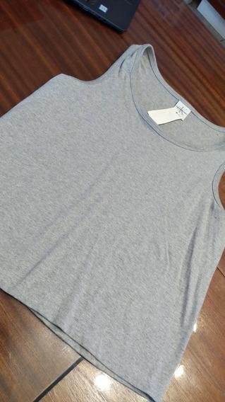 Musculosa De Algodon Gris Calvin Klein T Medium