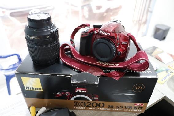 Camera Fotográfica Nikon D3200 + 1 Lente 18-105mm Af