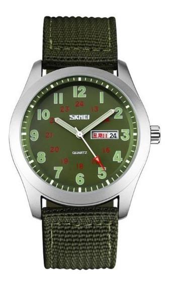 Relógio Masculino Skmei 9112 Analógico Verde Com Nf