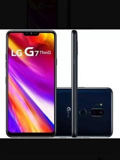 Celular Lg G7 Thinq 64 G Com Pelicula De Carbono E Capinha