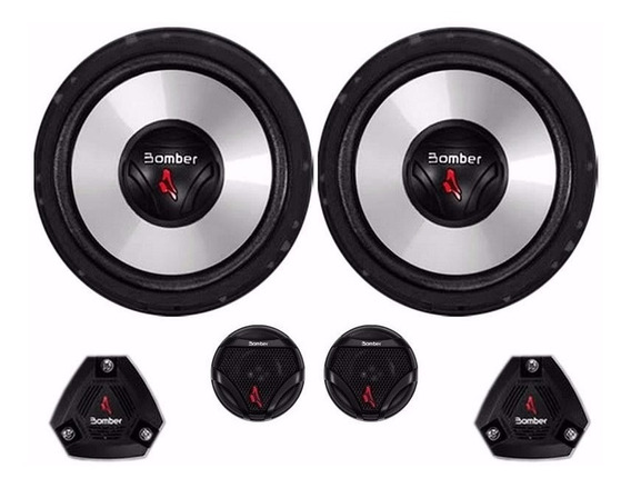 Kit Duas Vias Two Way Bomber 6 Upgrade 4ohms 120wattsrms