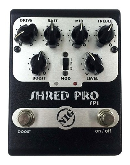 Pedal Nig Shred Pro Sp1 Distortion / Booster - Novo!