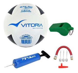 Kit Treinamento Futsal: Bola + Apito + Bomba + Acessórios