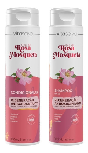 Kit Shampoo 300ml+ Cond 300ml Rosa Mosqueta Vs
