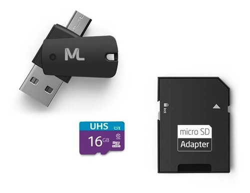 Imagem 1 de 2 de Cartão Memória 4x1 Pendrive Micro Usb Multilaser Mc150