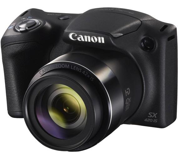 Câmera Canon Powershot Sx420 Is - Zoom 42x Preto 20mp Wifi