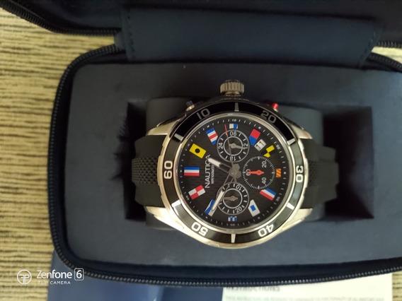 Relógio Nautica Chronograph Com Caixa - Original