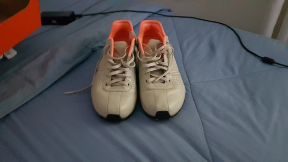 Tênis Nike Cinza Com Laranja Original