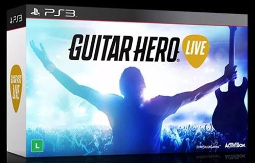 Guitarra Com Jogo Guitar Hero Live Bundle Playstation 3 Ps3