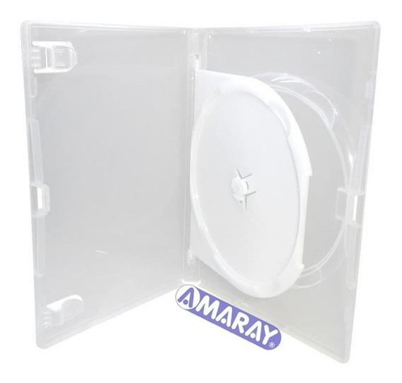 10 Estojo Caixa Capa Box Dvd Amaray Transparente Duplo 2
