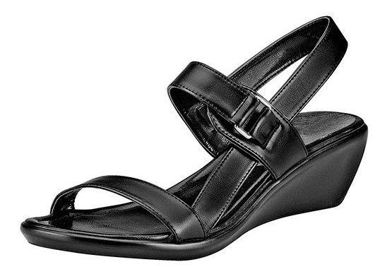 Zapato Confort Pravia Negro 5cm Dama Ankle D60312 Udt