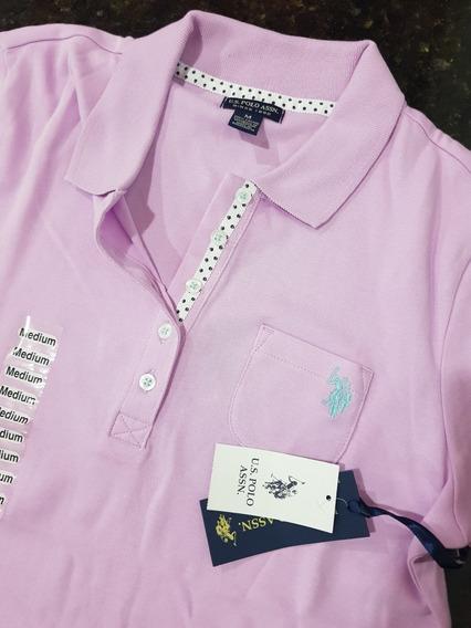 Camisa De Malha U,s Polo Assn. Feminina Importada