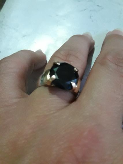 Vg (01) Anel Diamante Negro 7clts