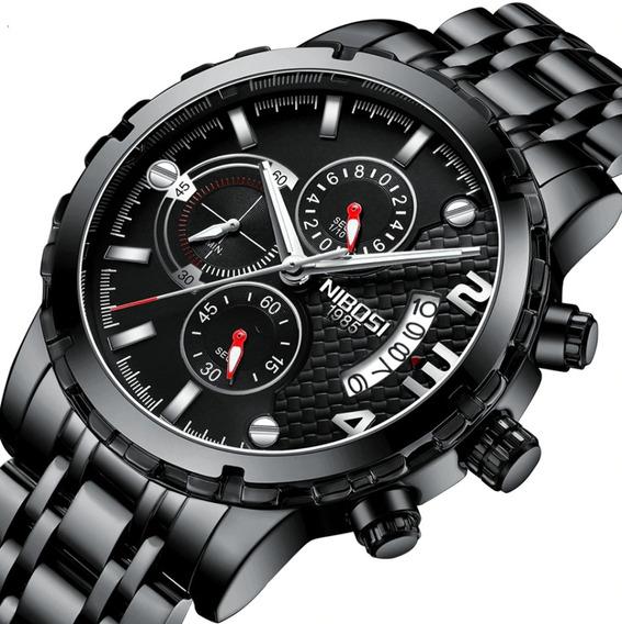 Relógio Masculino Original+garantia+caixa+(brinde)+f Gratis