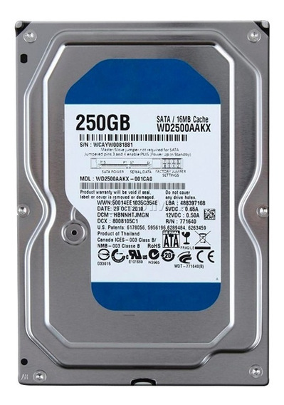 Disco Duro Sata 250gb 3.5 250 Gb Pc Bagc