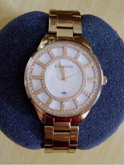 Lindo Relógio Com Strass Feminino Lince