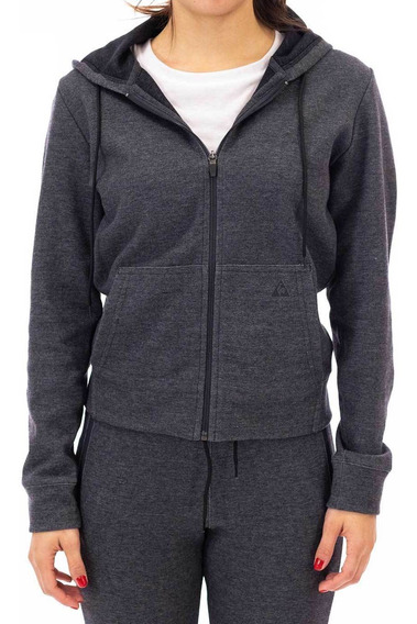 Campera Basic Sporty Fz Gris Oscuro Mujer Le Coq Sportif