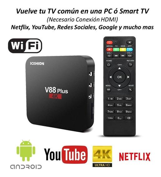 Smart Tvbox Android 7.1 V88 Quad Core 4k Wifi Hdmi