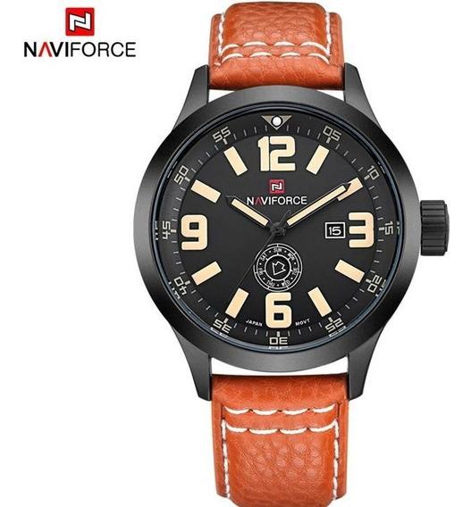 Relógio Naviforce Nf9057m Todo Funcional Pulseira De Couro
