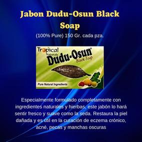 1 Jabon Dudu-osun Black Soap 150 Gr. 6pzs.