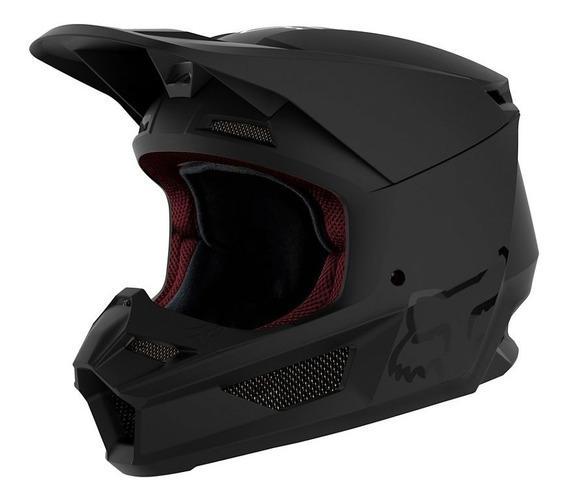 Casco Fox V1 Matte Sistema Mvrs Motocross Rzr Enduro Atv Mtb Trial Downhill Con Nuevo Diseño