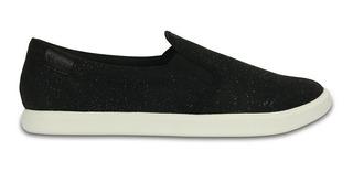 Zapatillas Crocs Citilane Slip On Sneaker Black Shimmer 2000