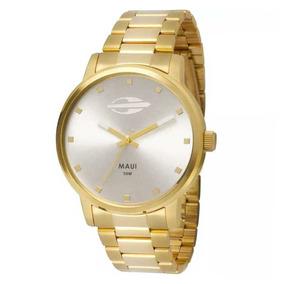 Relógio Mormaii Mo2035gn4k Dourado